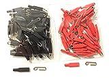 Enganches rapidos de Varilla Acero Inoxidable de 1,2mm , Extra Fuertes ,100 UND Rojos y Negros Gancho, Grapas Pesca.