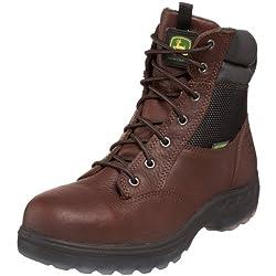 """John Deere Men's JD7601 7"""" ST WP Zipper Lace-Up Hiker Boot"""