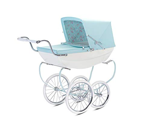Silver Cross Dolls Pram, Sweet Pea Blue / White Children's Toy Pram with Changing Bag Accessory, Suitable for Ages 3 Years +