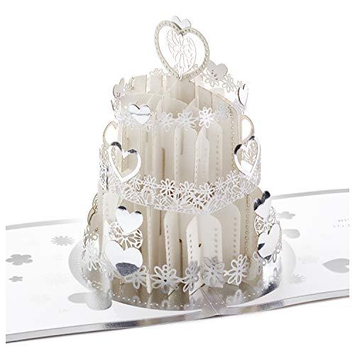 Hallmark Signature Paper Wonder Pop Up Engagement, Bridal Shower, Wedding Card (Wedding Cake)