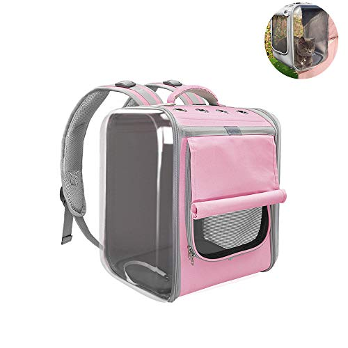 MZ Pet Carrier Backpack,Adjustable cat Travel Bag,Designed for Travel, Hiking, Walking and Outdoor Use,for Dogs and Cats.11.8 * 14.1 * 15.7in