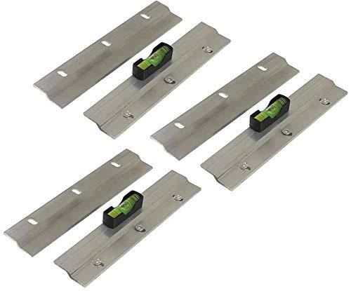 Juego de 3 ganchos para colgar cuadros y espejos, barra en Z, 150 mm y nivel fácil