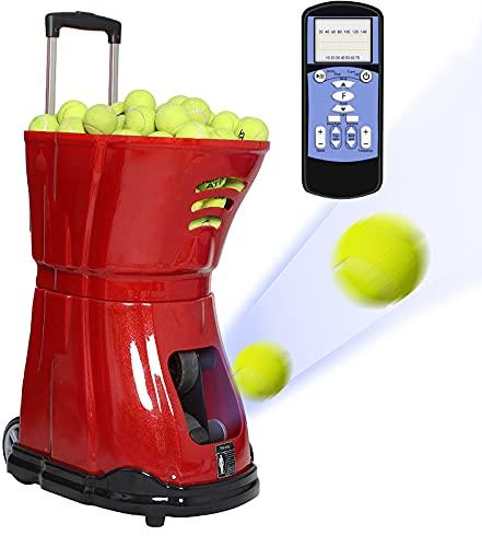 Tennisbal Machine Draagbare Automatische Bal Launcher Tennis Praktijk Apparatuur Intermediaire Tennis Trainer,Rood