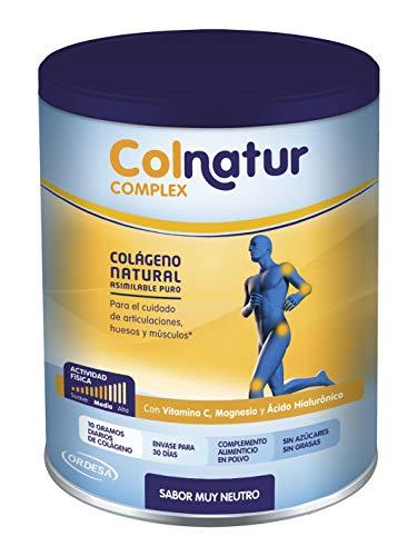Colnatur Complex - Colágeno Natural para Músculos y Articulaciones, Vitamina C, Magnesio y Ácido Hialurónico, Sabor Neutro, 330 gr