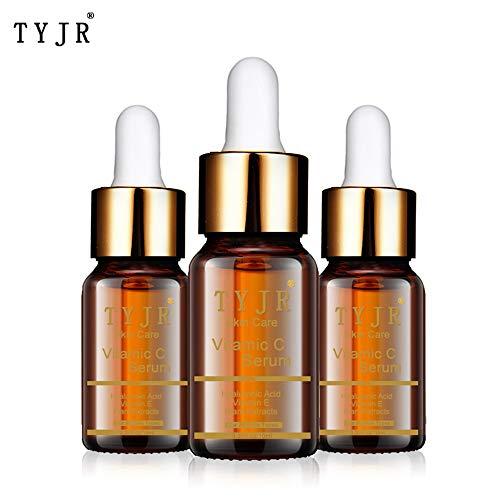 Suero de Vitamina C para Rostro y Ojos 10ml - Suero Facial Puro con 20% Vitamina C, ácido hialurónico, Vitamina B y E para Anti envejecimiento, Acné, Arrugas, Manchas Oscuras y Daño Sola