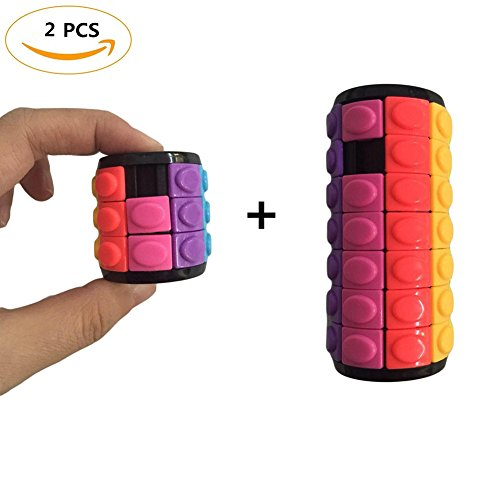 FIDGET DICE 2 Pack Magic Cube Puzzle 3D Puzzle Cube Magic Speed Cube Brain Teaser Mind Bending Button Twist Slide Toy Logic Game