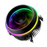 Vetroo Shadow CPU Air Cooling Cooler PWM Aluminum LED Addressable RGB Motherboard Control Cooling Fan Motherboard Sync for Intel Core i7/i5/i3