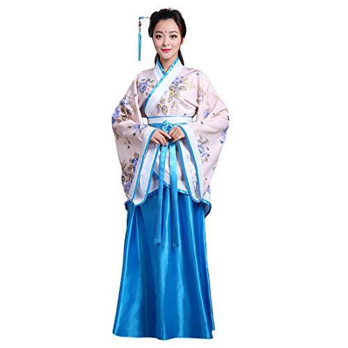 Inlefen Ropa de Mujer Traje Tradicional de Estilo Chino Antiguo Vestidos de Hanfu para Actuaciones