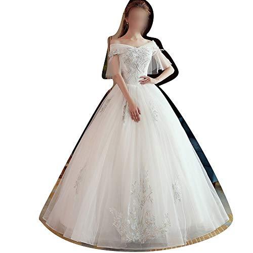 Rocke Frauen 2019 Kleid Lace Long Country Style Brautkleid (Size : XXL)