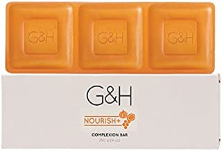 G&H NOURISH+Complexion Bar soap 250 G. Contains an exclusive blend of Orange Blossom Honey, Shea Butter, and Pumpkin Seed ...