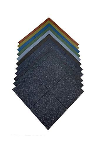Pack loseta caucho 1x1 m alta densidad premium para gimnasio | 100 x 100 x 2 cm | Loseta maciza para crossfit | Pavimento de caucho profesional (9 unidades (9m²), Roja)