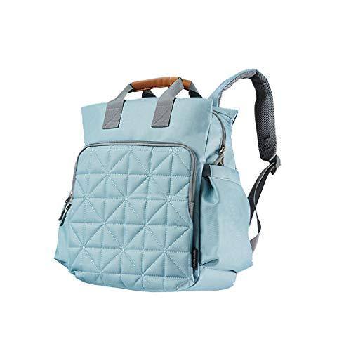 Food Bag Baby Bag Wickeltasche Mamabeutel Große Kapazität wasserdichte Tasche geeignet für Urlaubsreisen oder (einschließlich große Tasche * 1 Windel Kissen * 1 Klammer Manschettenknöpfe * 2) blau
