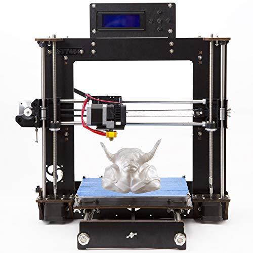 Stampante 3D DIY I3 A8 Prusa Desktop 3D Printer, Stampante 3D desktop di alta precisione, Stampante con ABS/PLA/TPU 1,75 mm