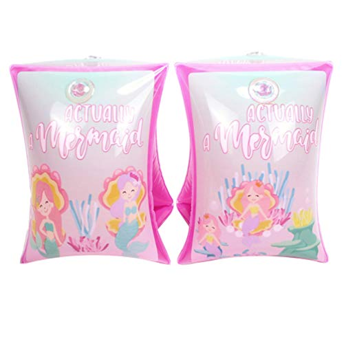 BESPORTBLE 1 Pair Swimming Arm Bands Arm Rings Arm Floaties Mermaid Swimmies Floats Cute Portable Adorable Water Wings Inflatable Armbands Flotation Sleeves for Kids Girls