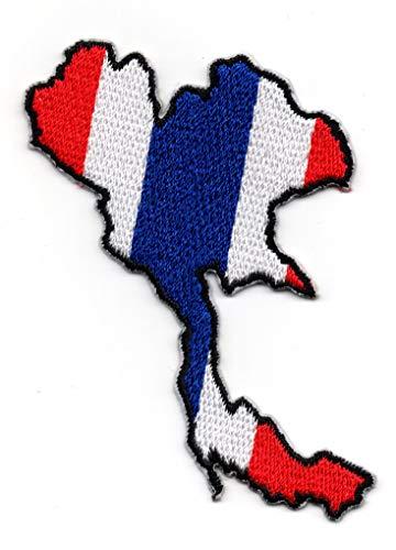 Thailand Kaart IJzer op Patch Naai op Geborduurde Badge toegepast