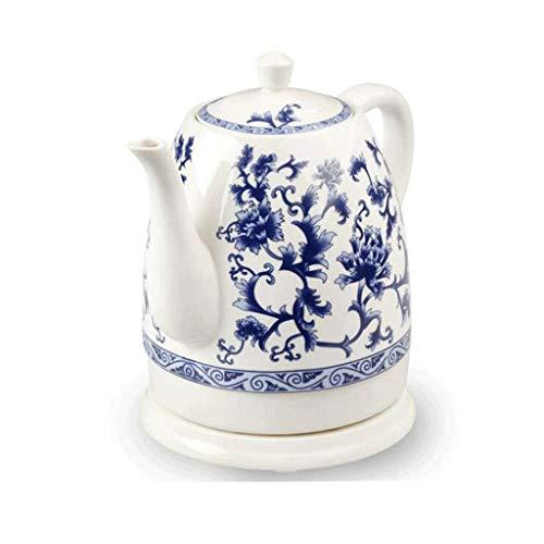 WYZQ Tetera eléctrica de cerámica Azul y Blanca de Porcelana Azul y...