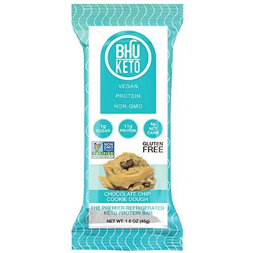 Bhu Keto Chocolate Chip Cookie Dough Protein Bar - 8 Units