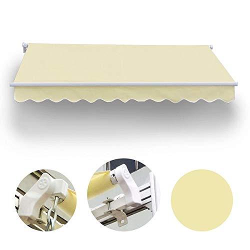 Wohnstyle24 350 x 300 Gelenkarmmarkise Markise beige Uni mit Handkurbel Sonnenschutz Sichtschutz Gestell anthrazit