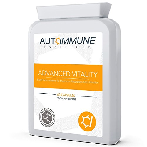 Advanced Vitality. Natural Energy Supplement. Contains Food Form Ingredients, High in Nutrients for Fatigue, The Immune System and More.