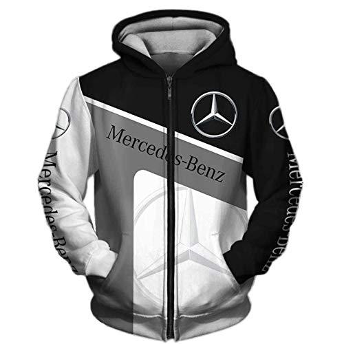 Daoxizhou Herren Sweatshirt Kapuze Jacke Mercedes Benz AMG Auto Herren Damen Pullover Hoodie Sweatshirt Kapuzenpullover Unisex Draussen Beiläufig,03,XXL