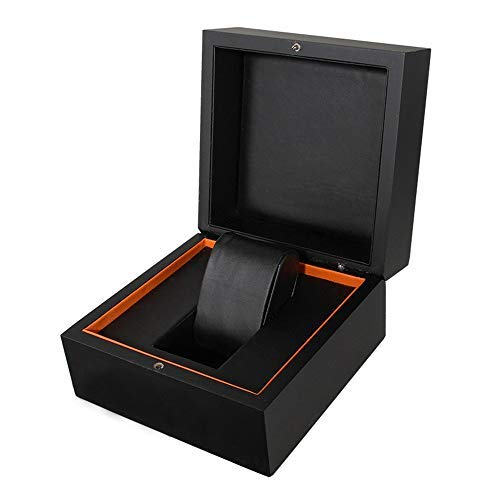 nobrand Wwceem Elegante Aufbewahrung Premium Glossy Wooden Armbanduhr/Armreif Kissen Box Great Birthday Gift Party Party Geschenk (Farbe: Weiß, Größe: S)