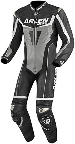 Arlen Ness Imola 1-Teiler Motorrad Lederkombi 50 Schwarz/Grau/Weiß
