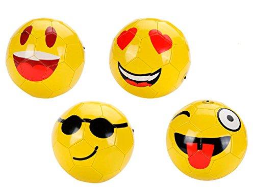 Balón de Fútbol Emoticonos 22 CM - Balones de fútbol divertidos, originales para niños dibujos graciosos. Regalos Originales y Detalles para Bodas, Infantiles, Comuniones y Fiestas de Cumpleaños