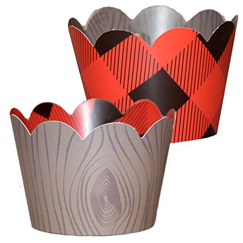 red and black cupcake liners - 9