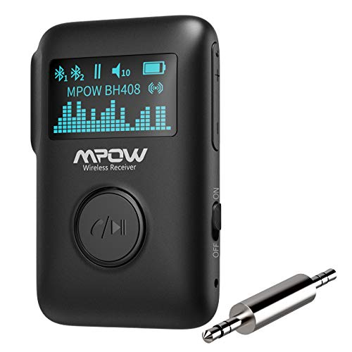 Best Price! Mpow Bluetooth Music Receiver, Bluetooth 5.0 Receiver with Display Screen, Bluetooth Aux...