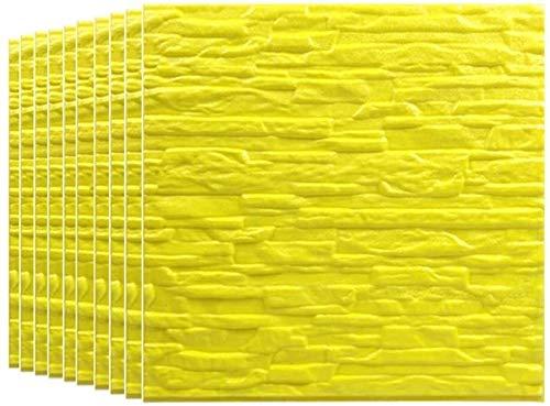 Piedra de Ladrillo Paneles de Pared Autoadhesivos Paneles de pared de ladrillo 3D pegatinas PE espuma extraíble imitación ladrillo pared decoración arte para sala de estar, dormitorio, bar, pared de T