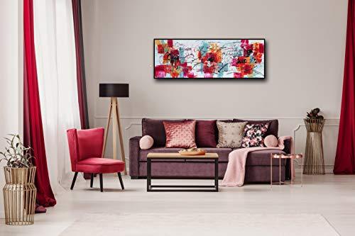 Angie Decoration Altamira Cuadro, Acrílico, Fucsia, 150 X 55 Cm