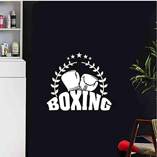 Muursticker Bokshandschoen Sticker Kick Boxer Speel Auto Sticker Combat Posters Vinyl Striker Muurstickers Decor Boksen Sticker 58X65Cm