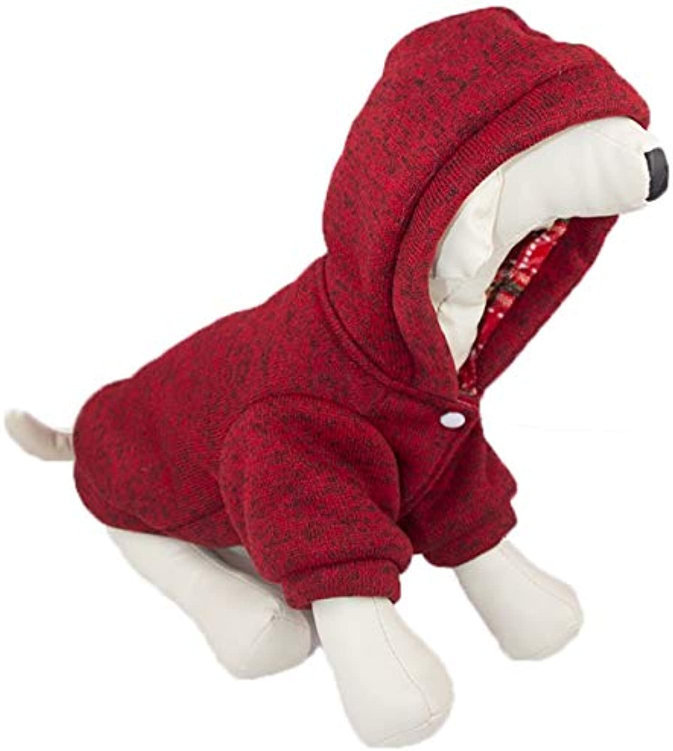 Pet Dog Clothes, Autumn and Winter pet Cotton Jacket, red Comfortable Warm Jacket, Fashionable and Beautiful pet Clothes (Size   XL)