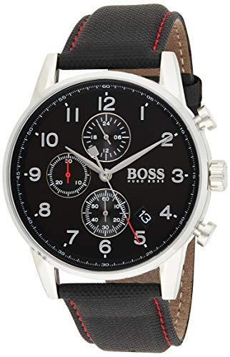 Hugo BOSS Reloj Análogo clásico para Hombre de Cuarzo con Correa en Tela 1513535