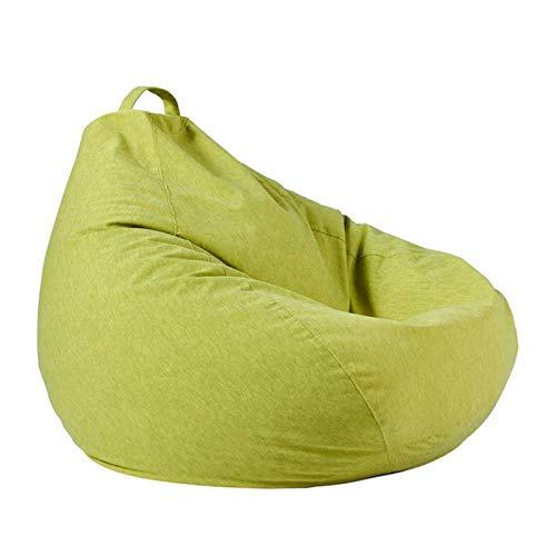 Keliour Sitzsackstuhl Große Buttersack-Stuhl-Sofa-Couch-Liege Hoher hinterer Buttersackstuhl for Erwachsene und Kinder Drinnen Draußen (Color : Green, Size : One Size)