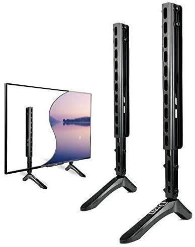 Drsn Universal TV Ständer für die meisten 32-65 Zoll LED LCD Fernseher Tisch Standfuß Fernsehtisch TV Halterung Höhenverstellbar Fernsehstand, bis zu 45KG, VESA 800x400mm
