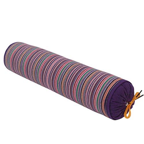 Freahap Neck Roll Pillow Buckwheat Husk Cervical Support Pillow Purpl