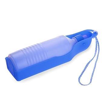 500ml Bleu Gourde avec bouteille distributeur d'eau Portable pour Chien Chat