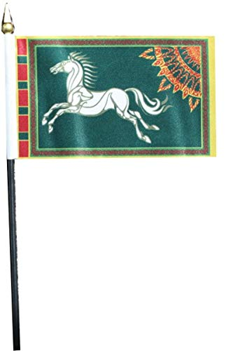 Flaggen Pehl Herr der Ringe Rohan Tischflagge Grün 10 x 15 cm Fahne Sammler Fan Artikel.