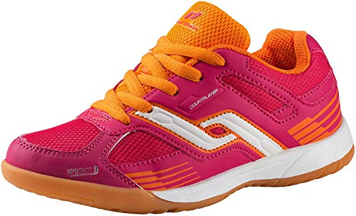 Pro Touch Indoor-Schuh Courtplayer, Unisex-Kinder Multisport Indoor Schuhe, Rot (Rot/Orange 000), 39 EU (6 UK)