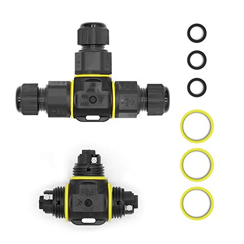 Kabelverbinder Wasserdicht IP68,Erdmuffe für erdkabel für Ø1-12 mm Kabeldurchmesser,Verbindungsmuffe Kabelverbinder,Verbinden verlängern Erdkabel reparieren Verbindungsmuffe