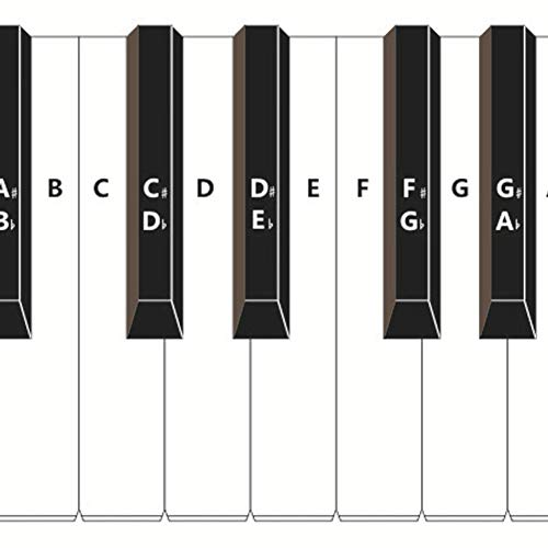 aniceday 88 Tasten Klaviertrainingstastatur Notentabelle Klavierlernhilfe-Set für hinter den Klaviertasten