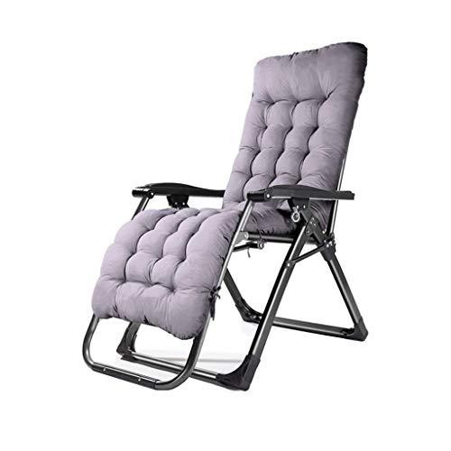Chaise Longue Pliante fauteuils inclinables Chaise de Camping balancelle Fauteuil de Dossier Chaise Pause déjeuner décontracté Patio Jardin Riverside Transat de Plage (Couleur : B+Cushion)