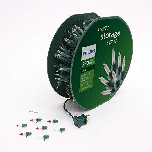Philips 250 Clear Mini Christmas Lights on Easy Storage Spool