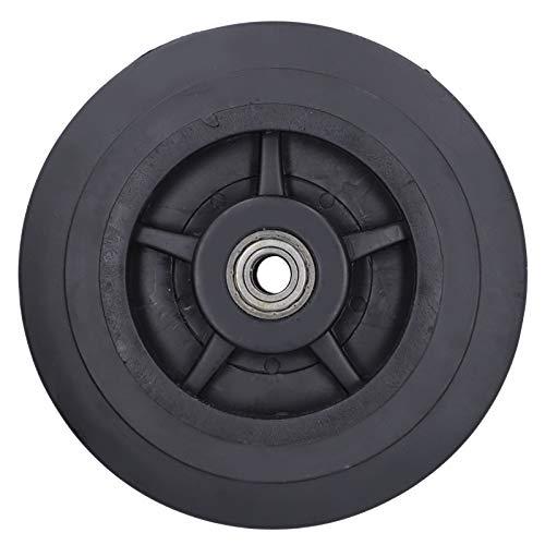 Rueda de goma muda, piezas de repuesto de rueda de goma de 8 pulgadas con orificio de 0,6 pulgadas de diámetro para carro de generador agrícola agrícola, carros, remolques de plataforma plana de