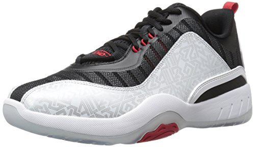 AND 1 Men's Vertical Basketball Shoe, Silver/Black/Red, 9.5 M US