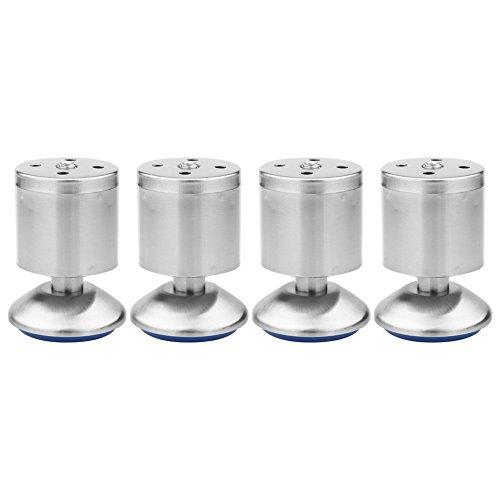 Höhenverstellbare Edelstahl Schrank Beine Küche Füße Arbeitsplatte/Einheit/Frühstück Bar/Schreibtisch Sofa Tischbeine Möbel Beine (4er Pack)(50 * 80MM)