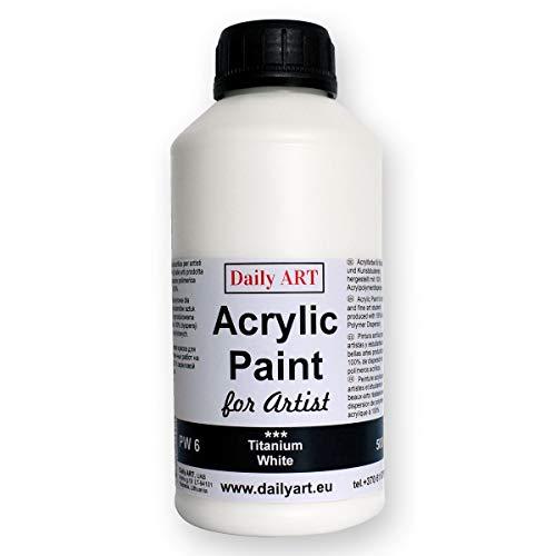Daily ART Pintura acrílica 500 ml, Blanco de Titanio