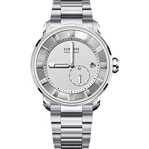 Watch for Watch,Mens Automatic Watches LOBINNI Man Luxury 50m Waterproof Business self Wind Mechanical Wristwatch Tungsten Steel (Women Watch p3)