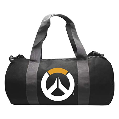 ABYstyle - Overwatch - Bolsa Deportiva con Logo - Gris/Negro